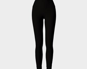 Black Yoga Leggings for Women, Workout Stretch Leggings, Athletic Running Leggings, Bahasha Activewear, Woman Hot Yoga Pants, Made in Canada