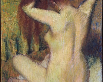 analysis of picassos nude combing hair Artist:picasso, pablo a glass on a table absinthe drinker accordionist (l'accordéon nude combing her hair nude figure odalisque admired by an o.