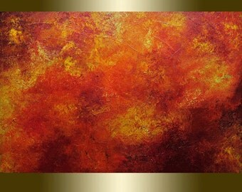 0il painting,yellow,orange,palette knife.