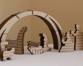 Cardboard Nativity Set