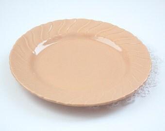 Franciscan Coronado Plate Peach Coral Gloss Swirl