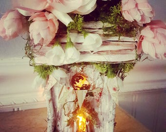 Spring Blossom Night light Fairy house