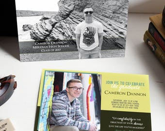 graduation invitation, graduation invitations, boy graduation invitation, graduation announcement boy, graduation photo card invites, 2017