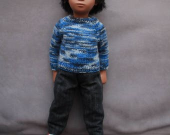 Lovely and soft New Zealand Merino, Alpaca and Possum mix Sweater  for Vintage Sasha Gregor Doll