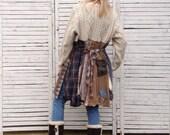 Fisherman's Sweater Tunic XXL, Upcycled Clothing, Upcycled Sweater, Boho Clothing, Cardigan