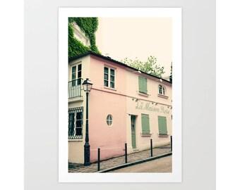 SALE Paris photography, Paris canvas, Paris decor, Montmatre, Paris print, pink, blush pink, Pink Paris,travel photography,french wall decor