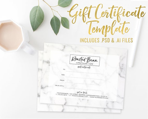 Marble gift certificate card template photoshop template marble gift certificate card template photoshop template illustrator vector template small business branding gift voucher template yadclub Image collections