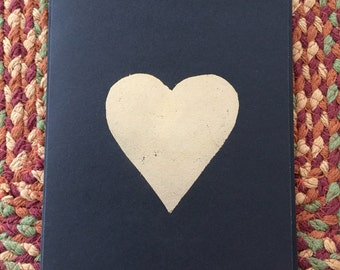 Greeting Card. Love/Friendship/Family : 'heart of gold'