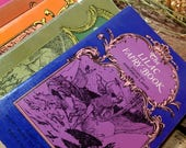 Complete Vintage Set of Andrew Lang's Coloured Fairy Tales / Fairy Book of Many Colors / Paperback / Pen and Ink Illustrations / Stories