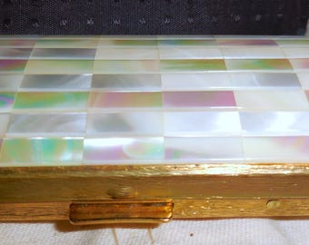 Cigarette Case  Mother of Pearl Colibri Made In England Tobacciana