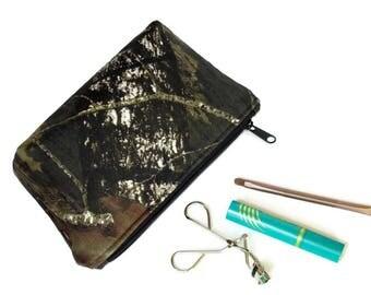 Mossy Oak Camo Makeup Bag - Camo Makeup Pouch - Zipper Pouch - Cosmetics bag - Toiletry Bag  - travel bag