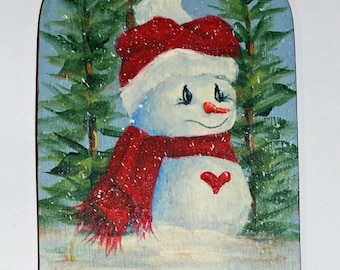 Snowlady Wood Ornament