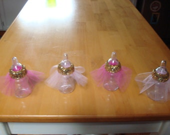 ballerina tutu baby bottle favors 50 baby shower favors princess themed baby shower