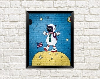 Astronaut - Mural - Street Art - Photography - Photo Print