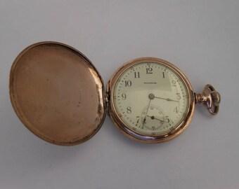 1902 Waltham Size 16 Hunter case Pocket Watch runs
