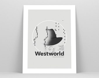 Westworld Poster ~ TV Series Poster, Gift, Art Print by Christopher Conner