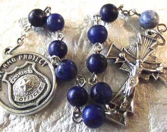 Police Officer/St. Michael Blue Rosary Tenner