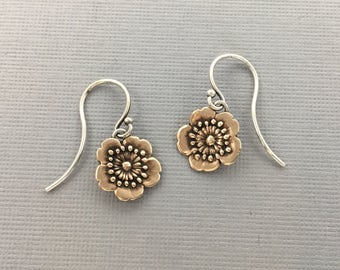 cherry blossom earrings   flower earrings   sakura earrings   spring jewelry   blossom earrings   Little Flower earrings
