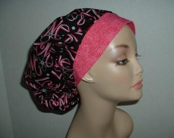 Valentine Mod Hearts Love Bouffant OR Surgical Scrub Hat
