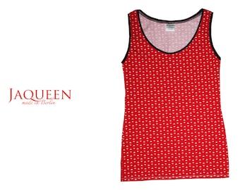 undershirt red  top handmade Berlin quality vest chemise singlet