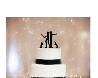 Maggie and Becky from Walking Dead - Same Sex Wedding Cake Topper - Event Wedding Cake Topper