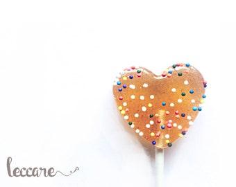 20  Birthday Cake Lollipops  // Sprinkle  Heart Lollipops // Happy Birthday // Summer Wedding Favor // Fall Wedding Favor