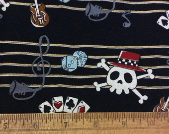 Fabric Sale Grab Bag - Destash Fabric - Kawaii Fabric - Skull Fabric - Sewing - Quilting - 30 x 32
