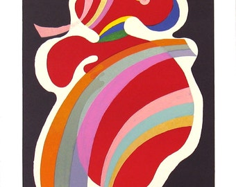 Wassily Kandinsky-La Forme Rouge-1969 Lithograph