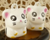 Hamster Guinea Pig Jingle Bells Metal Charms (2)
