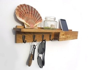 "17"" wooden key rack with mailbox"