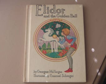 Vintage Elidor and the Golden Ball By McHargue Highly Illustrated Book Beautiful Book Unicorn Childs Literature