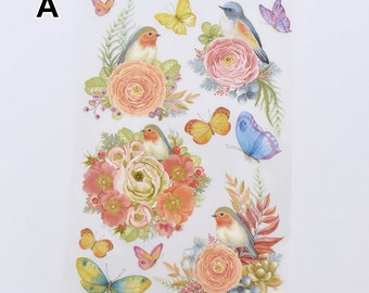 Birds Flower Animal Offset Printing Iron On Transfer Hot Flocking Tape Sticker Plate Backing Painting