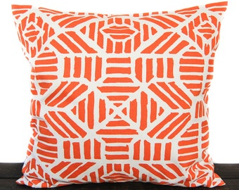 Pillow, Throw Pillow, Pillow Cover, Cushion, Decorative Pillow, orange and white, Ribble Monarch