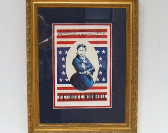 Victoria Woodhull- Framed Fine Art Print - Women Throughout History - by Bonnie Fillenwarth