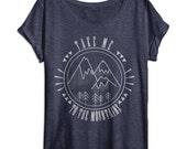 Womens Shirt - Take Me To The Mountains - Outdoors Shirt - Hiking - Camping Shirt - Vintage Clothing - Nature - Ladies