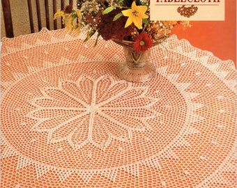 "Vintage Crochet Pattern - ""Desert Flower Tablecloth"" From McCalls Aug 1992, Vol 6, No 4"