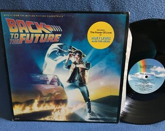"RARE, Vintage, ""Back To The Future"" , Original Soundtrack, Vinyl LP, Record Album, Alan Silvestri, Huey Lewis And The News, Power Of Love"