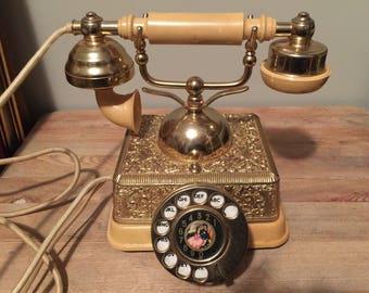 Vintage Ornate Dial Telephone