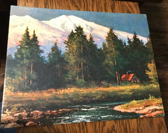"""Fine Art Lithography """"Mount Shasta"""" by Robert Wood   11""""x14"""""""