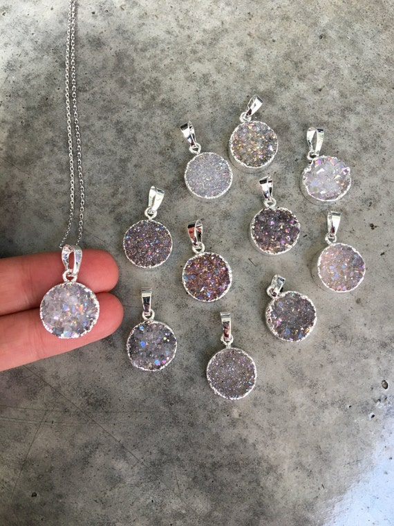 Druzy Necklaces, Druzy Jewelry, Crystal Druzy, Aunt Gift, Bridesmaids jewelry