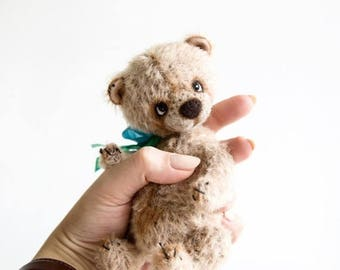 Sale 50% Little Artist Teddy Bear Tom + FREE shipping - Collectible Bear - Stuffed Teddy bear - Gift idea