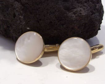 Mother of Pearl Cuff Links by Swank Perfect for the Groom or Father's Day Gift