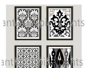 Home Decor Wall Art Modern Black Stone Grey inspired Art Prints Collection  -Set of 4 - 8x10 Prints - Stone Grey Khaki (UNFRAMED) #158944200