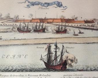 Antique Paris Louvre Print Limited Edition Museum Authenticity Stamp