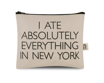 i ate absolutely everything in new york pouch