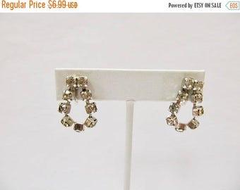 On Sale Vintage Sparkling Prong Set Dangle Earrings Item K # 2827