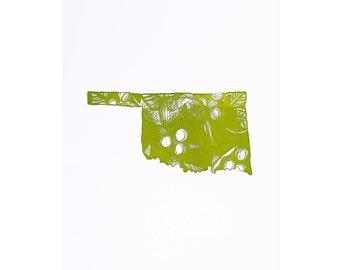 Letterpress Oklahoma Mistletoe