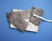 Antique Vintage METALLIC Silver Vestment FRINGE Fringing / Trim-Cushions-Drapery