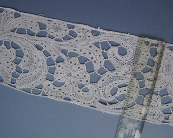 Antique Vintage Italian MILANESE Bobbin Lace c1700s - Home Decor - Crafts