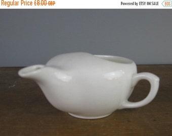ON SALE Vintage milk jug, creamer, Aladdins oil lamp, white ceramics